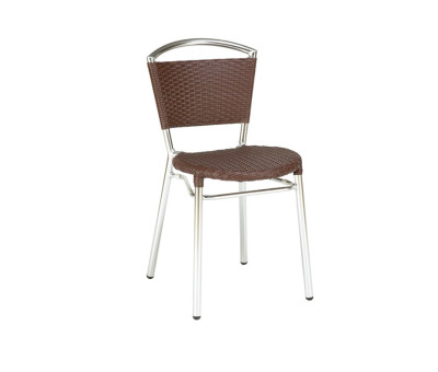 Isabella Brown Stacking Outdoor Chair
