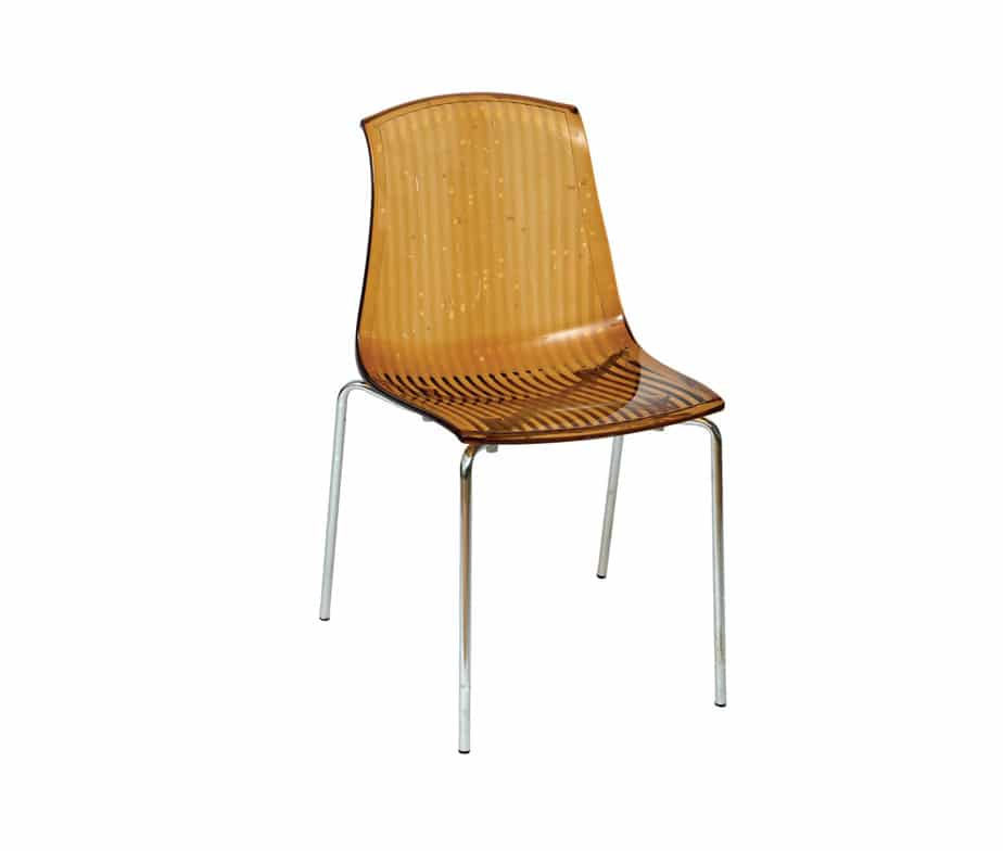 Adelaide Stacking Plastic Chairs White Black Red Amber Clear