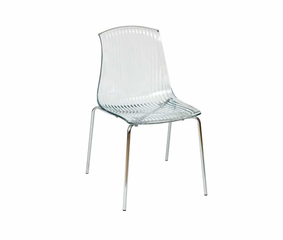 Adelaide Stacking Plastic Chairs White Black Red