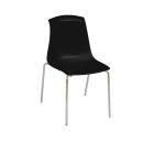 Adelaide Stacking Chairs Black