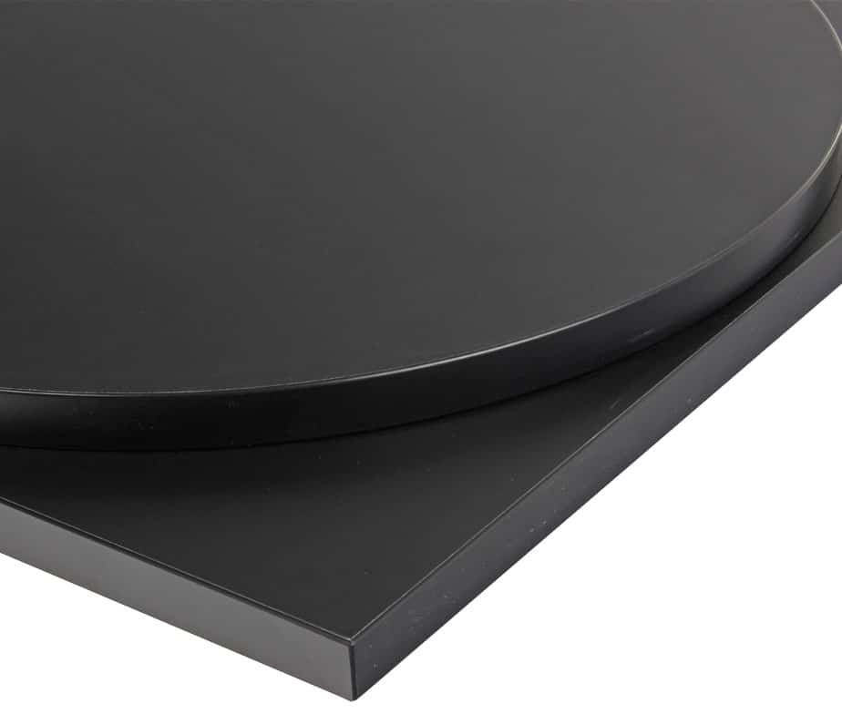 Black Laminate Table Tops For Contract Use Quick Delivery