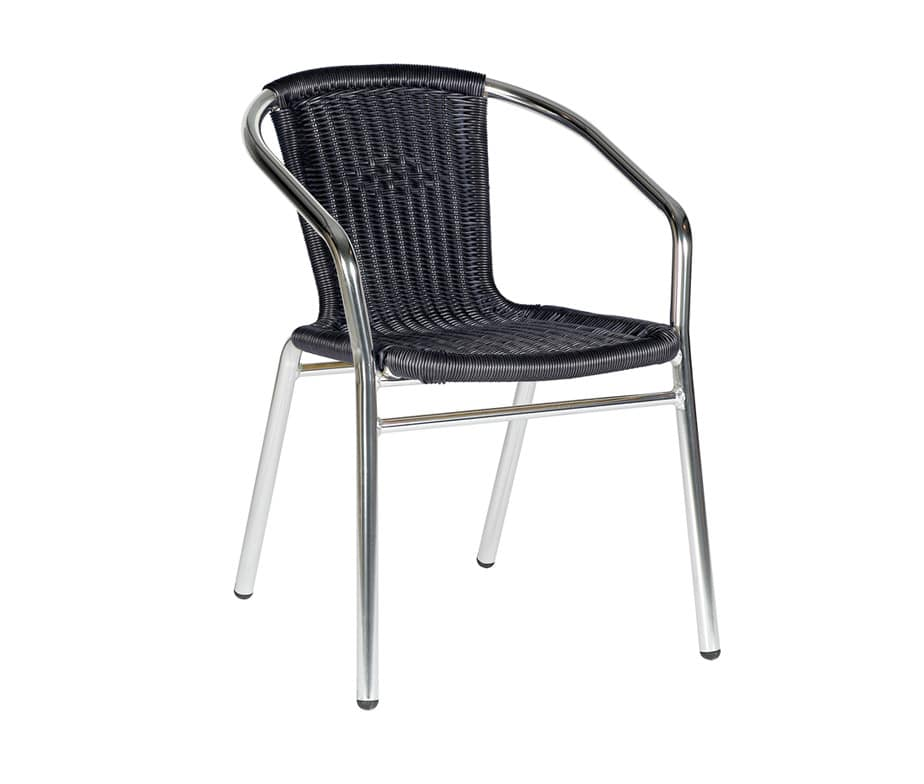 Catalina Cheap Outdoor Chairs Black Weave