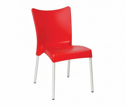 Chopin Cheap Plastic Stacking Chairs Red