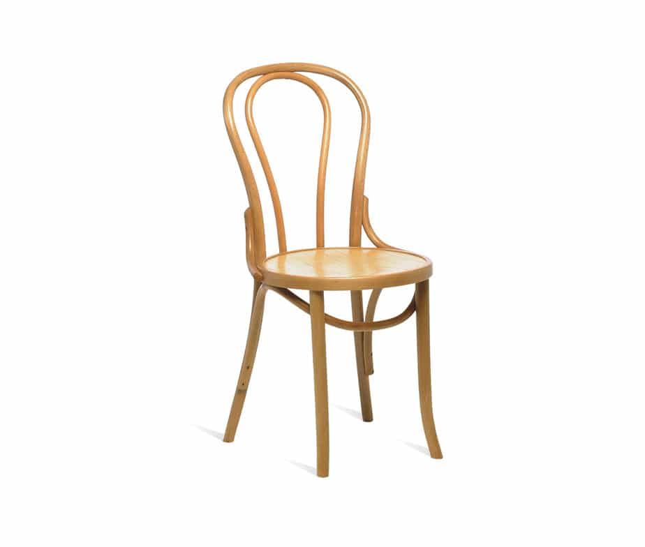 ella bentwood dining chair curved back restaurant bistro side chair