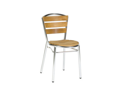Hague Outdoor Chrome Teak Chairs