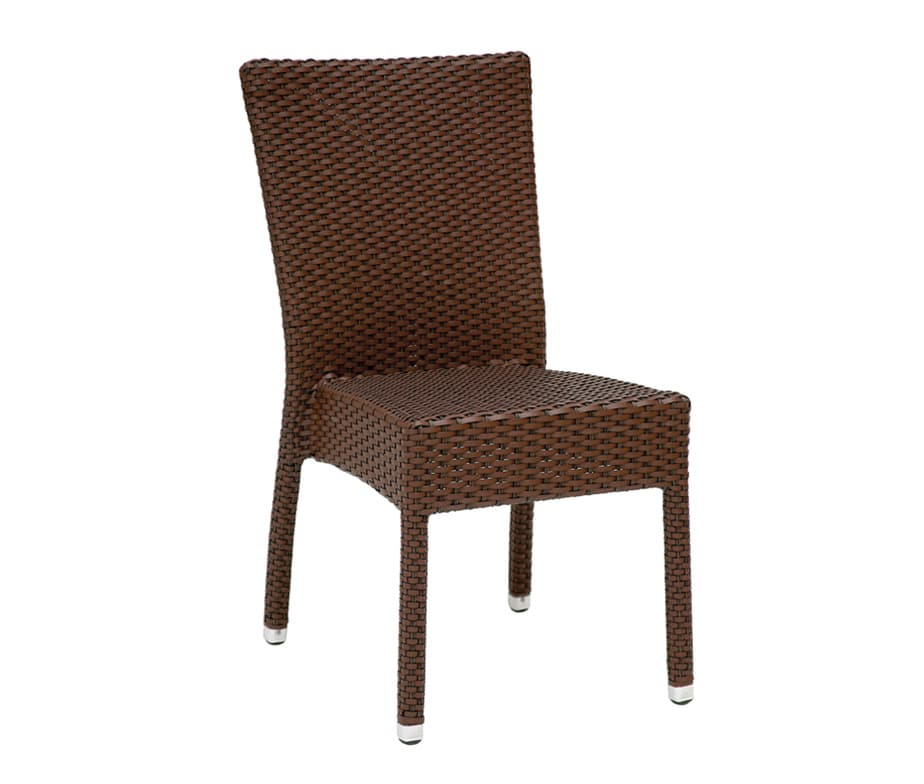 Rattan weave mano stacking chair for outdoor commercial use for Contract outdoor furniture