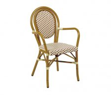 Monaco Red Cream Stacking Arm Chairs