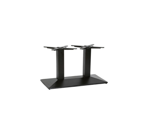 Newton Twin Pedestal Rectangular Coffee Table Heavy Duty Black Table