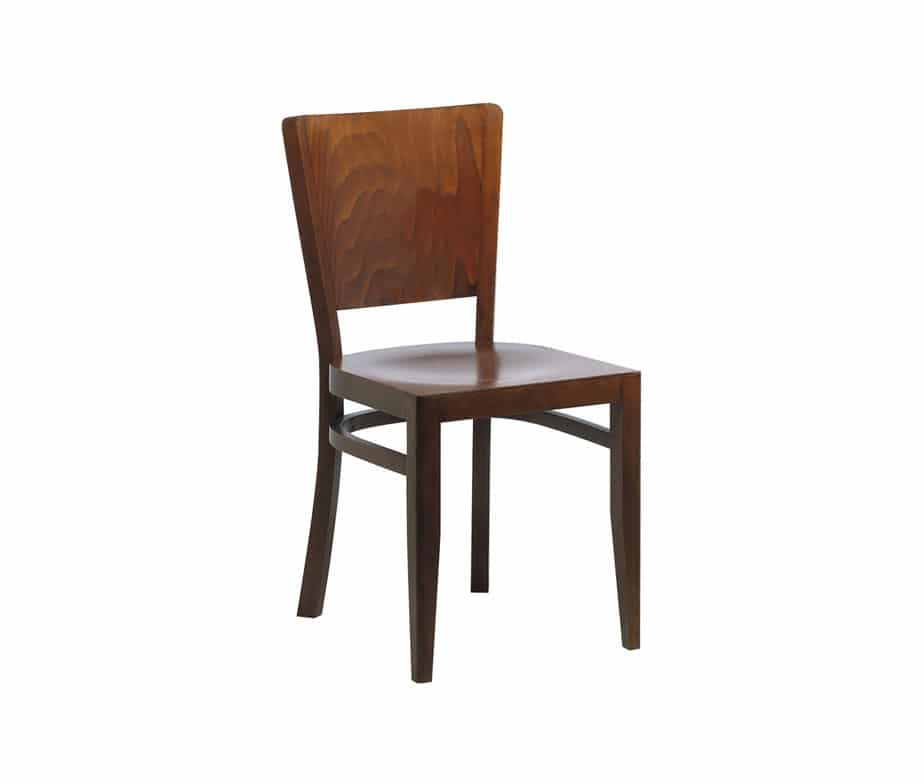 Oregon veneer back dining chair stained walnut or natural
