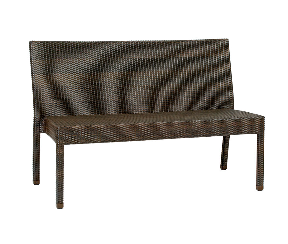 Prima 2 seater stacking outdoor rattan bench for Contract outdoor furniture