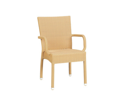 Prima Outdoor Stacking Armchairs Natural