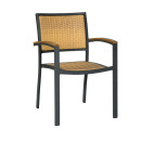 Villa Greay Beige Outdoor Stacking Armchairs