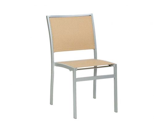 Villa LV Beige Weave Outdoor Stacking Chairs