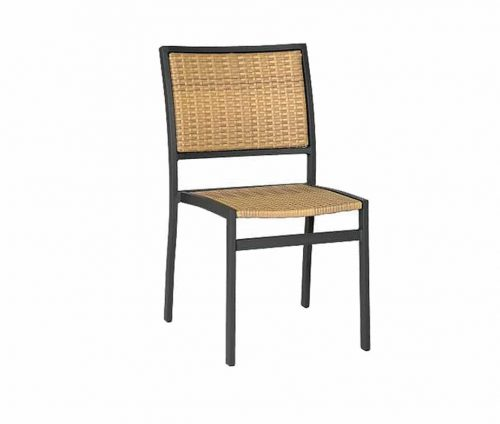 Villa Outdoor Grey Beige Weave Stacking Chairs