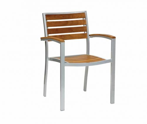 Villa Teak Outdoor Stacking Chairs