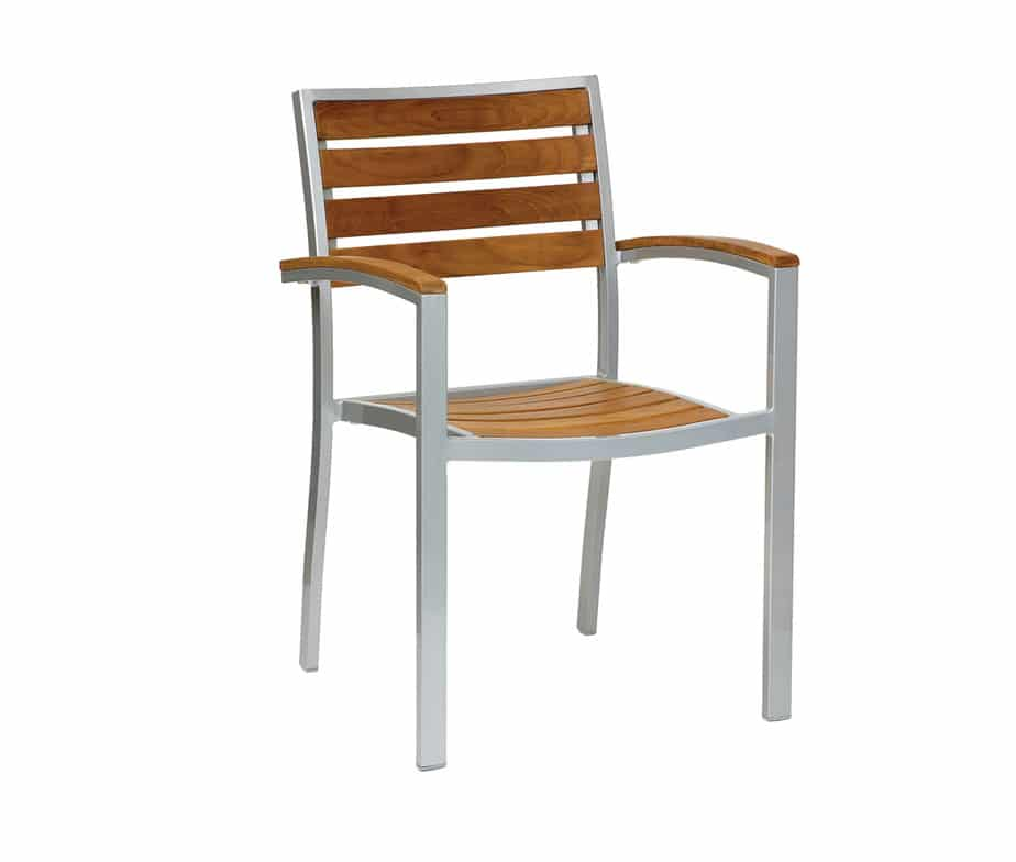 Genuine Teak Stacking Outdoor Chairs - Robust Metal ...