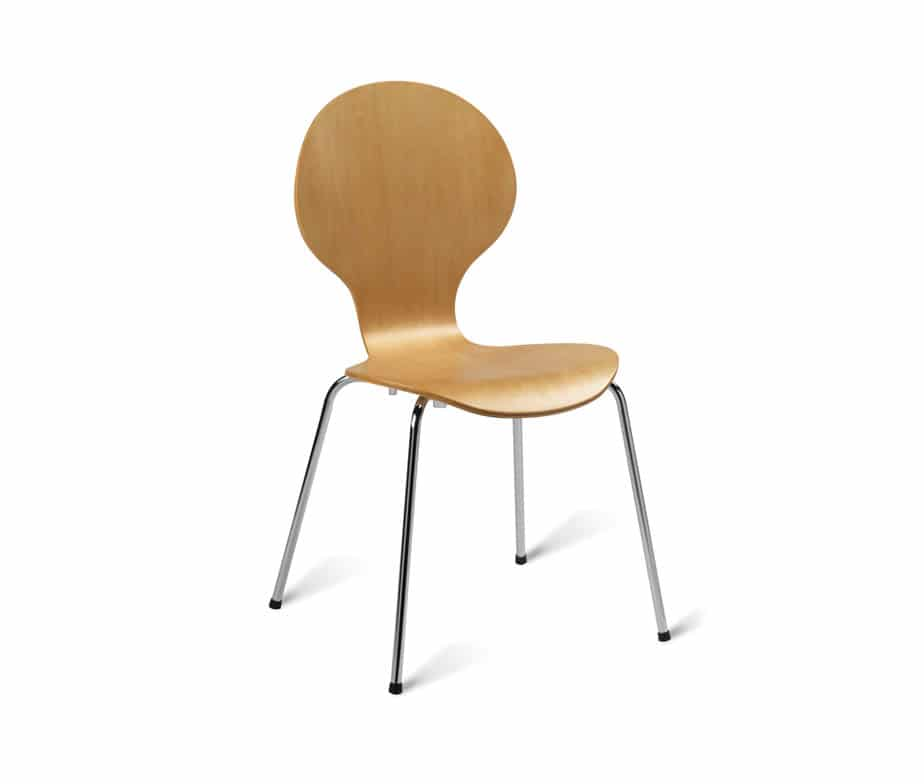 Cheap Bent Ply Stacking Cafe Chairs The Bow Chair From Warner
