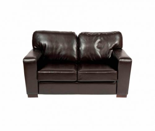 Chunky Faux Leather Small Sofa