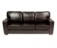 Chunky Faux Leather 3 Seater Sofa