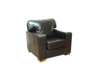 Chunky Faux Leather Arm Chairs