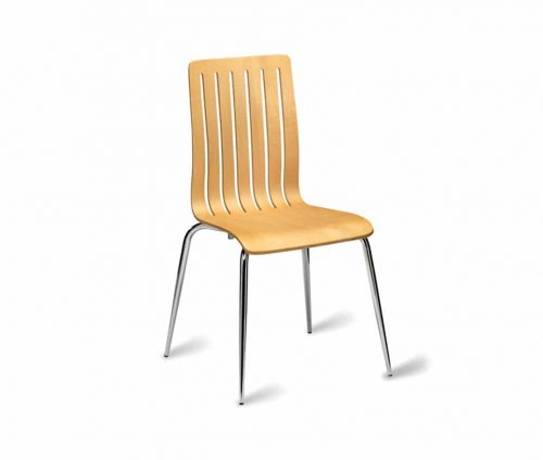 Luke Natural Stacking Cafe Chairs