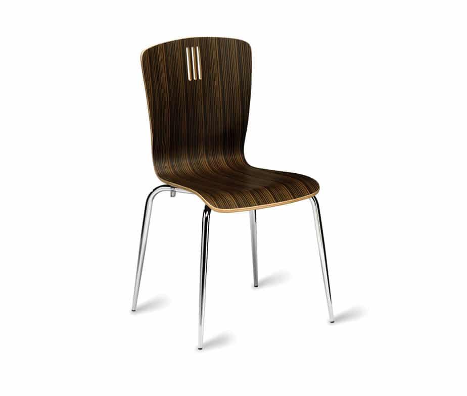 Peron Zebrano Cafe Chairs Available In Natural And Wenge
