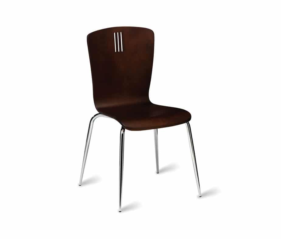 Wenge Stacking Cafe Chairs Wenge