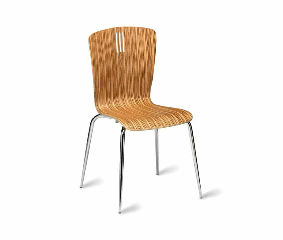 Peron Zebrano Natural Cafe Chairs Stacking