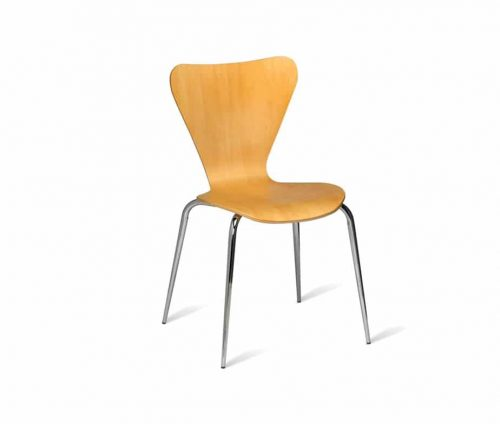 Pluto Cheap Beech Stacking Cafe Chairs