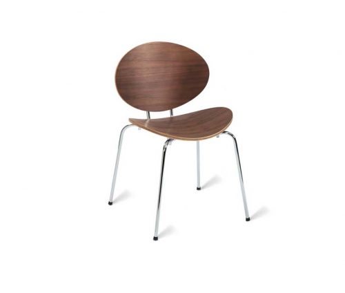 Eames Stacking Walnut Dining Chairs