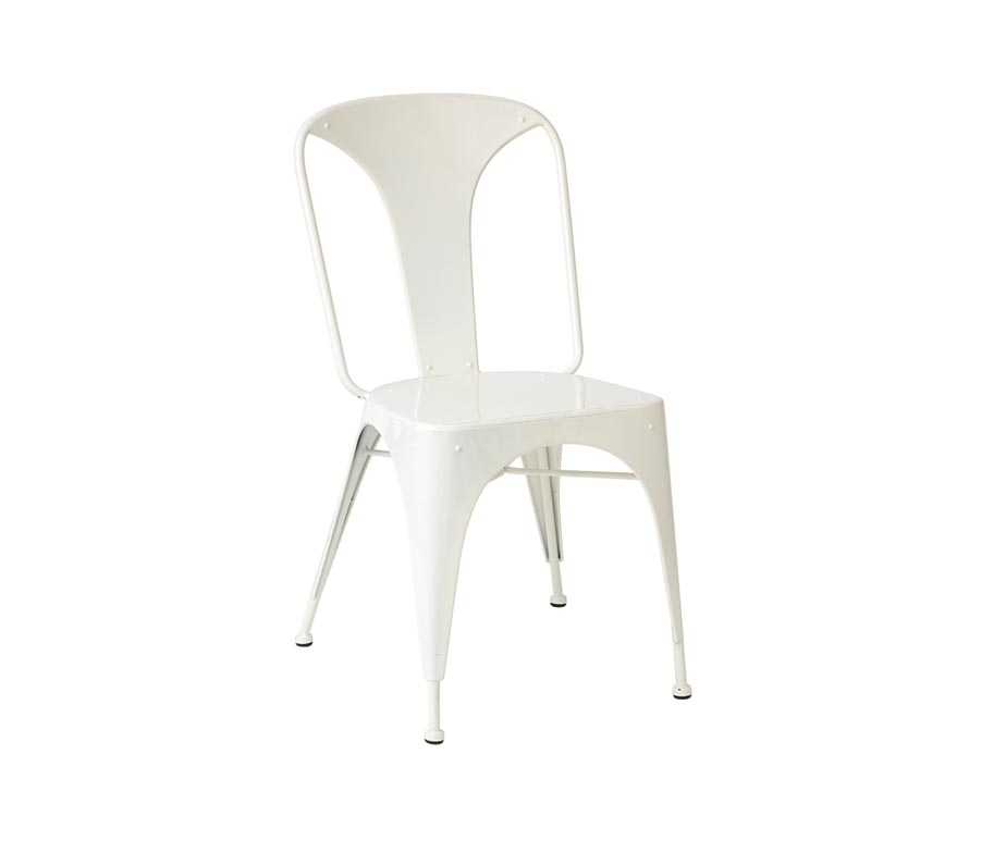 ... Relish White Metal Industrial Chairs