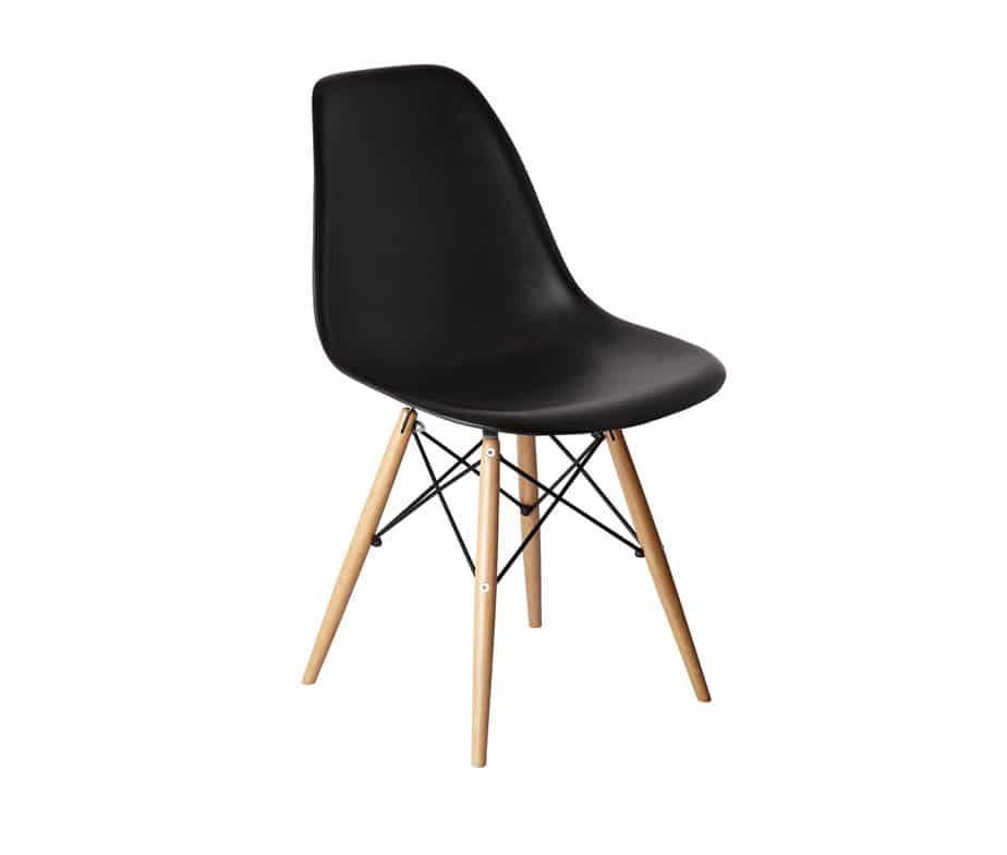 Alice Retro Side Chairs Plastic Shell On Spindle Legs
