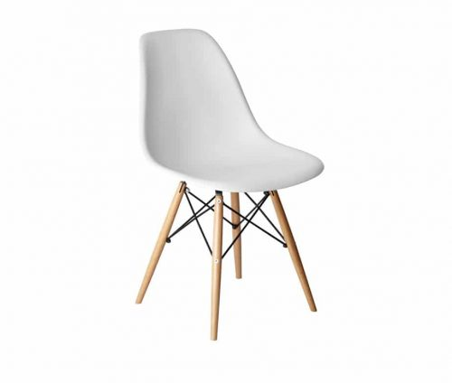 Alice Retro Side Chair White