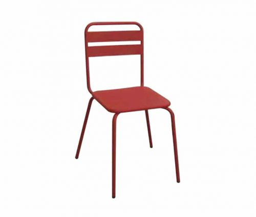 Park Red Metal Chairs