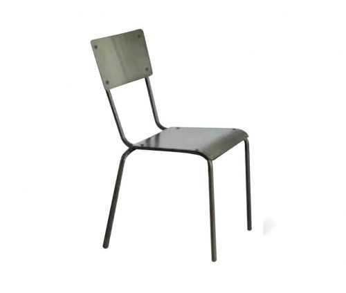 All Metal School Chair