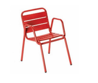 Decker Red Armchairs
