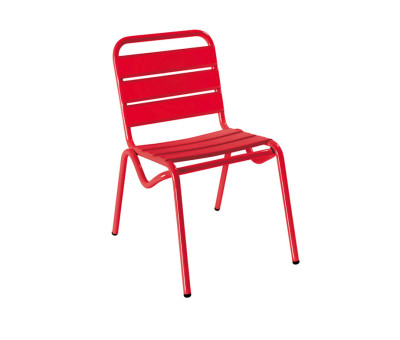 Decker Outdoor Cafe Chairs Red