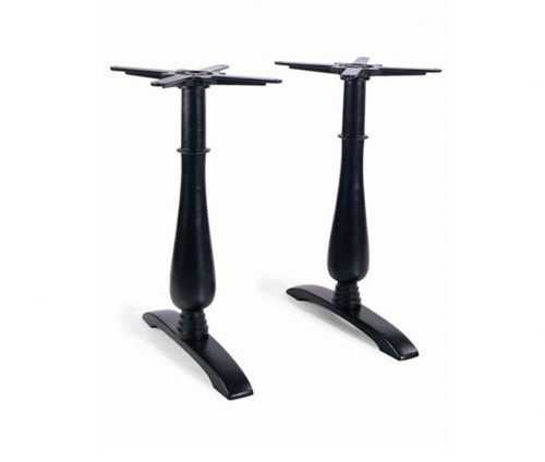Eos Twin Ped Cast Iron Table
