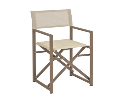 Hitchcock Folding Directors Chairs Beige