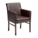 Glenhurst Brown Faux Leather Armchair