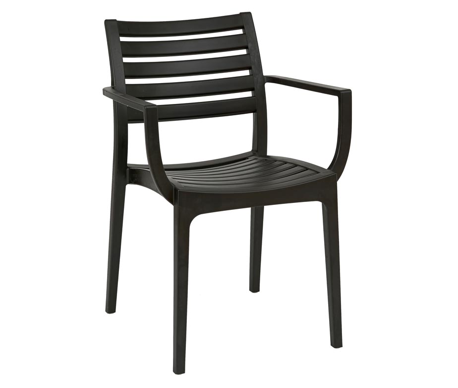 Melbourne Stacking Plastic Chairs Black