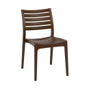 Melborne Brown Plastic Chairs