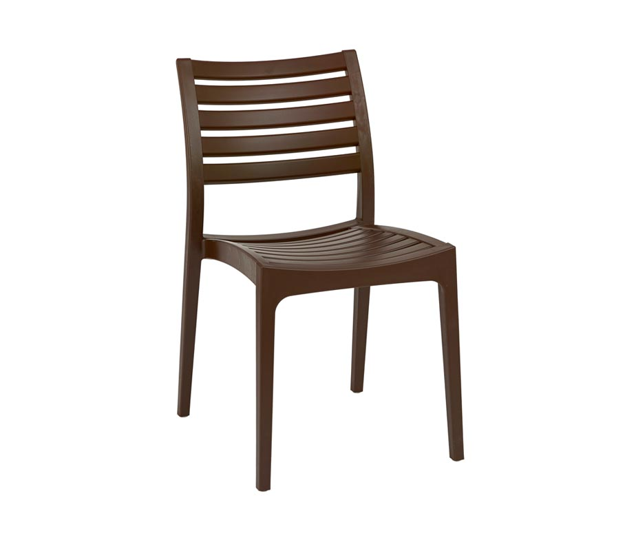 Melbourne Stacking Outdoor Chairs in Black and Brown