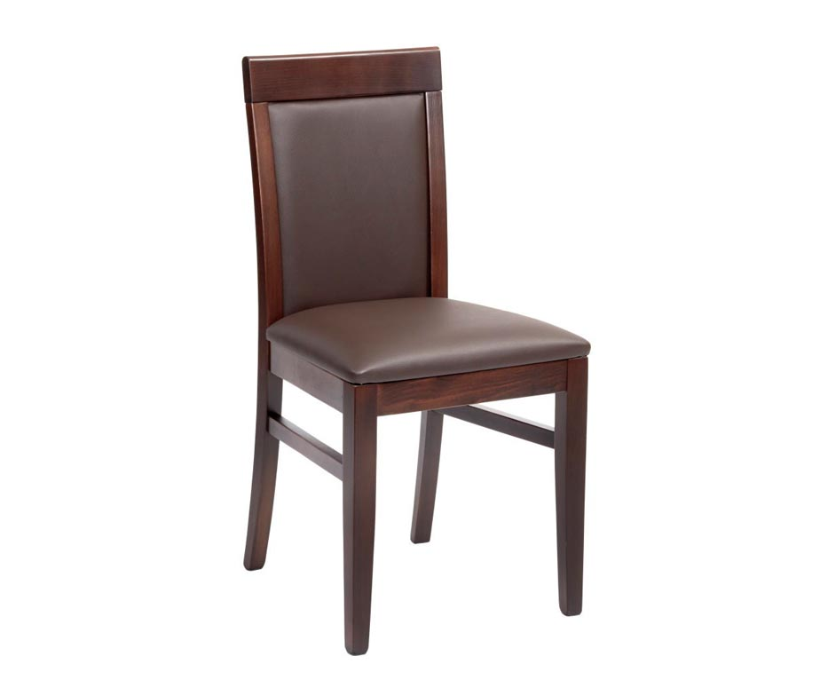 Moreton premium restaurant dining chairs in cream and brown for Restaurant tables