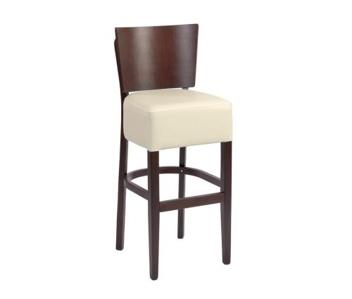 Oakham Bar Stools Cream Faux Leather