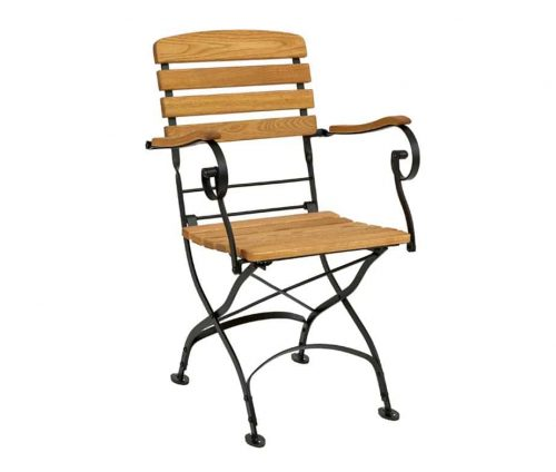 Parade Folding Teak Armchairs