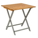 Pier Folding Table Teak Grey