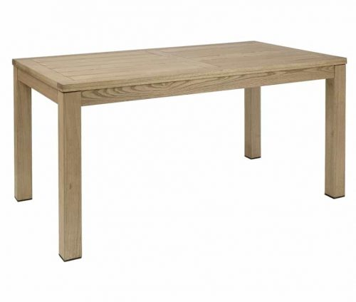 Quad Large Wooden Table Weathered Finish