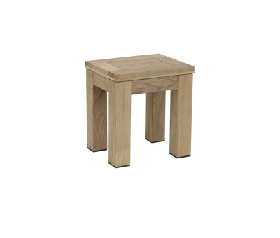 Quad Chunky Rustic Low Stools Weathered