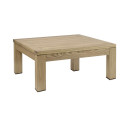 Quad Rustic Square Coffee Table Weathered Finish